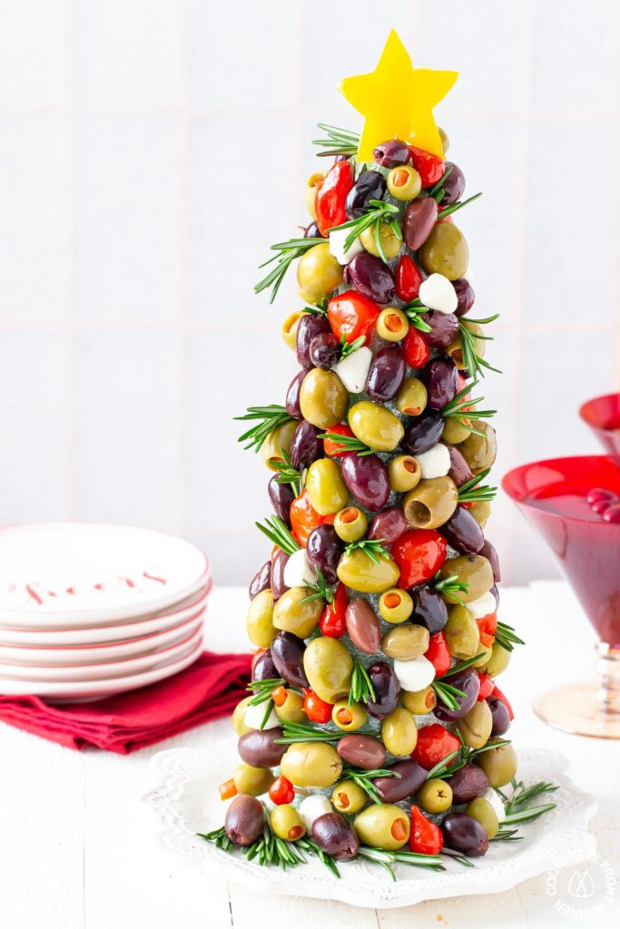 picture of olive christmas tree appetizer