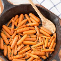 Skillet Brown Butter Carrots