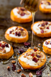 SWEET POTATO GOAT CHEESE APPETIZER
