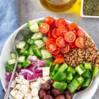 Lentil Greek Salad