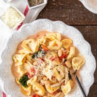 Creamy Tuscan Tortellini Soup