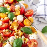 Fresh Corn Caprese Salad