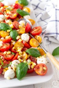 Fresh Corn Caprese Salad