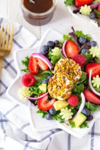 Triple Berry Pistachio Goat Cheese Salad