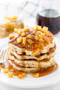 Apple Pancakes With Apple Maple Sauce