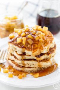 Apple Pancakes With Apple Maple Sauce