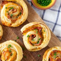 Ham & Cheese Puff Pastry Appetizer
