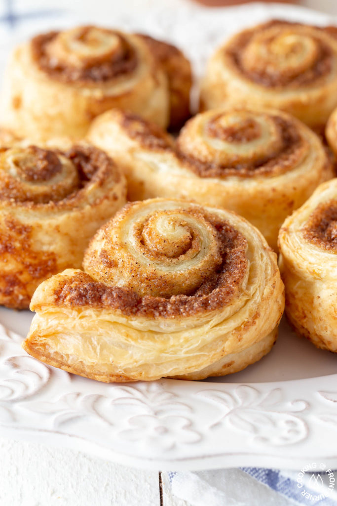 close up of pumpkin spice rolls