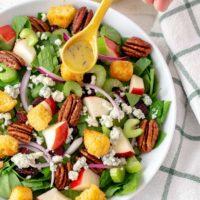 Autumn Spinach Apple Salad