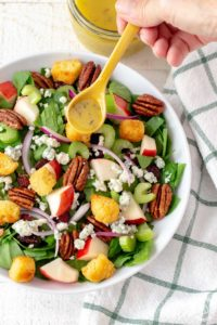 Autumn Spinach Apple Salad