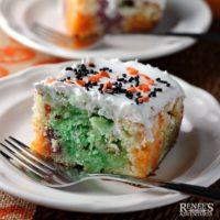 Halloween Jello Poke Cake