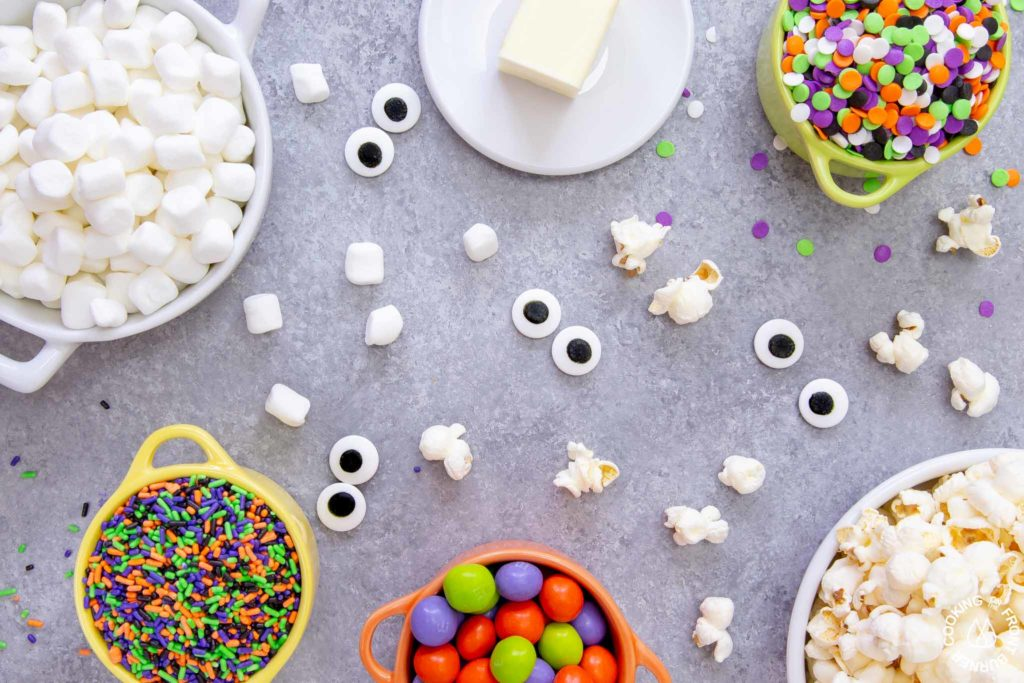 ingredients needed for halloween snack mix