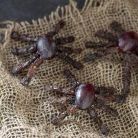 Healthy Kid Snack For Halloween: Fruit Spiders Recipe