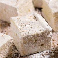Homemade Eggnog Marshmallows