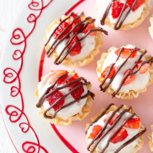 No Bake Cheesecake Phyllo Cups