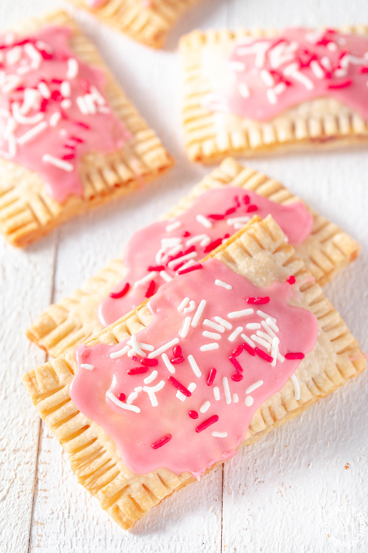 strawberry pop tarts on a board