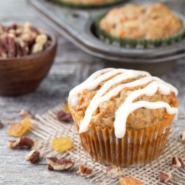 Carrot Cream Cheese Muffins
