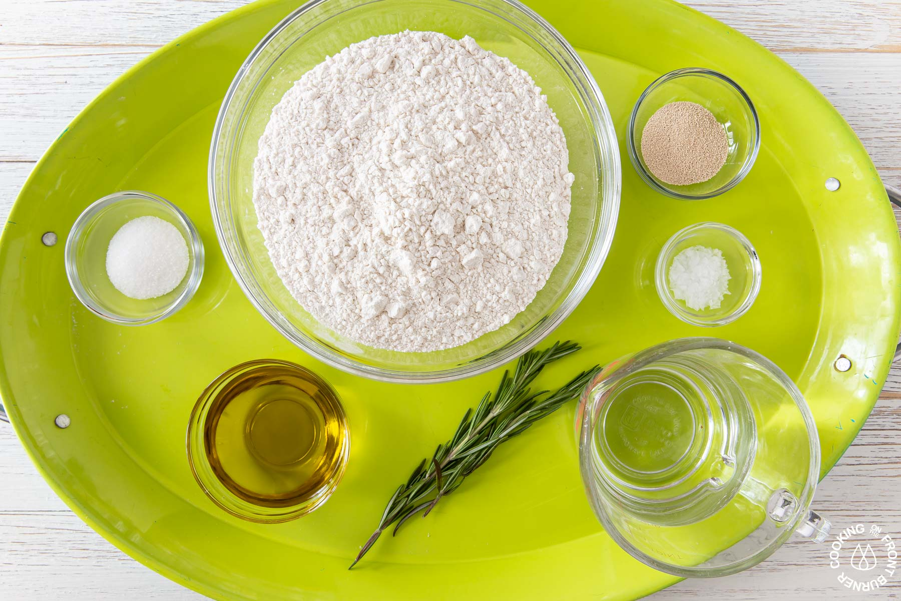 ingredients needed to make skillet focaccia bread