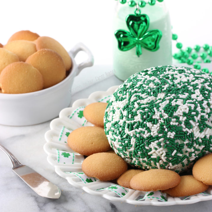 Minty Shamrock Cheese Ball