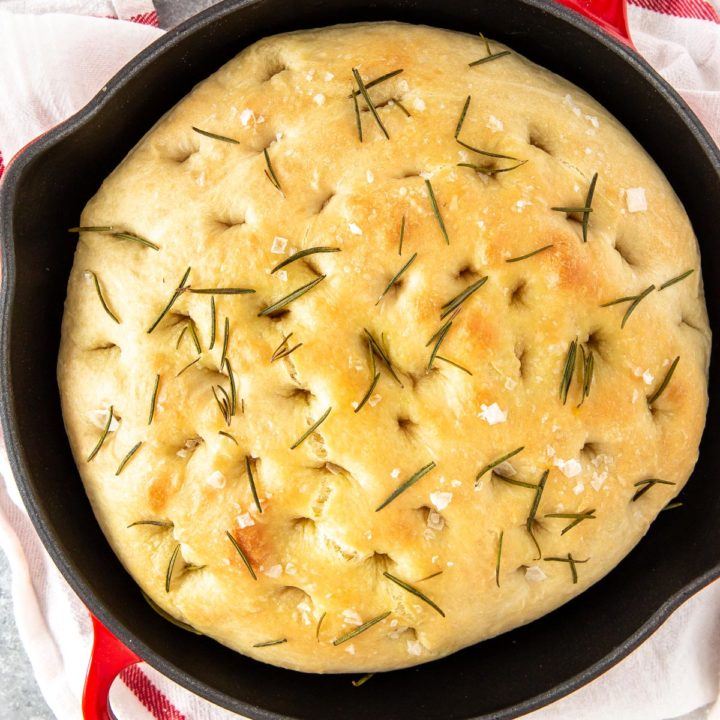 Skillet Focaccia Bread with Rosemary