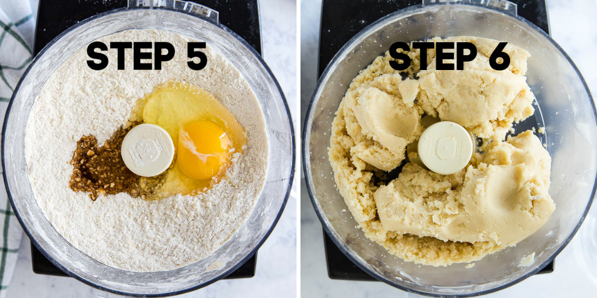combining vanilla in a food processor to make cookies