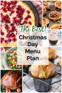 Christmas Day Menu Plan